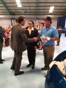 Governor Pat McCrory congratulates Brooks Agnew