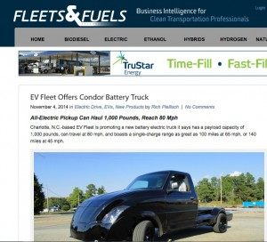 Fleets & Fuels EV Fleet feature