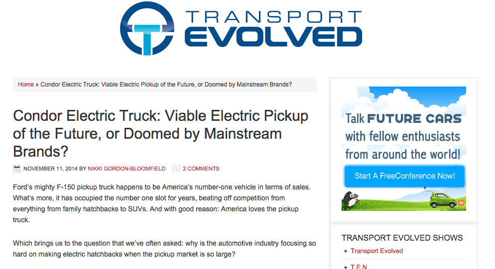 EV Fleet Electric Pickup Truck: In The News