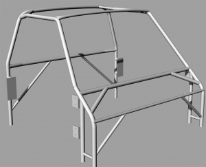 4130 steel roll cage made of 1 1/2